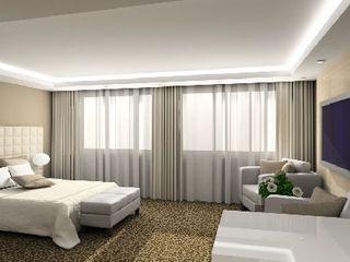 3D render modern interior of bedroom - b