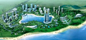He Wyndham Grand Boao Resort and Spa, shown in a rendering here, is scheduled to open in 2011