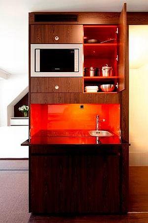 Dearg Livinghotel Campo dei Fiori München - Kitchenette