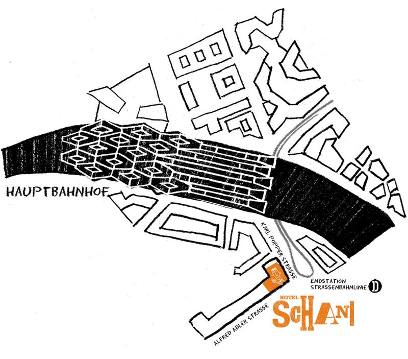 Hotel Schani Wien - Lageplan